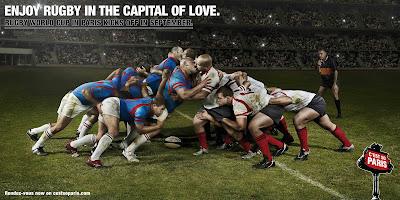 Rugby Kampagne für Paris.