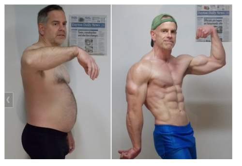 6 month weight loss male 50