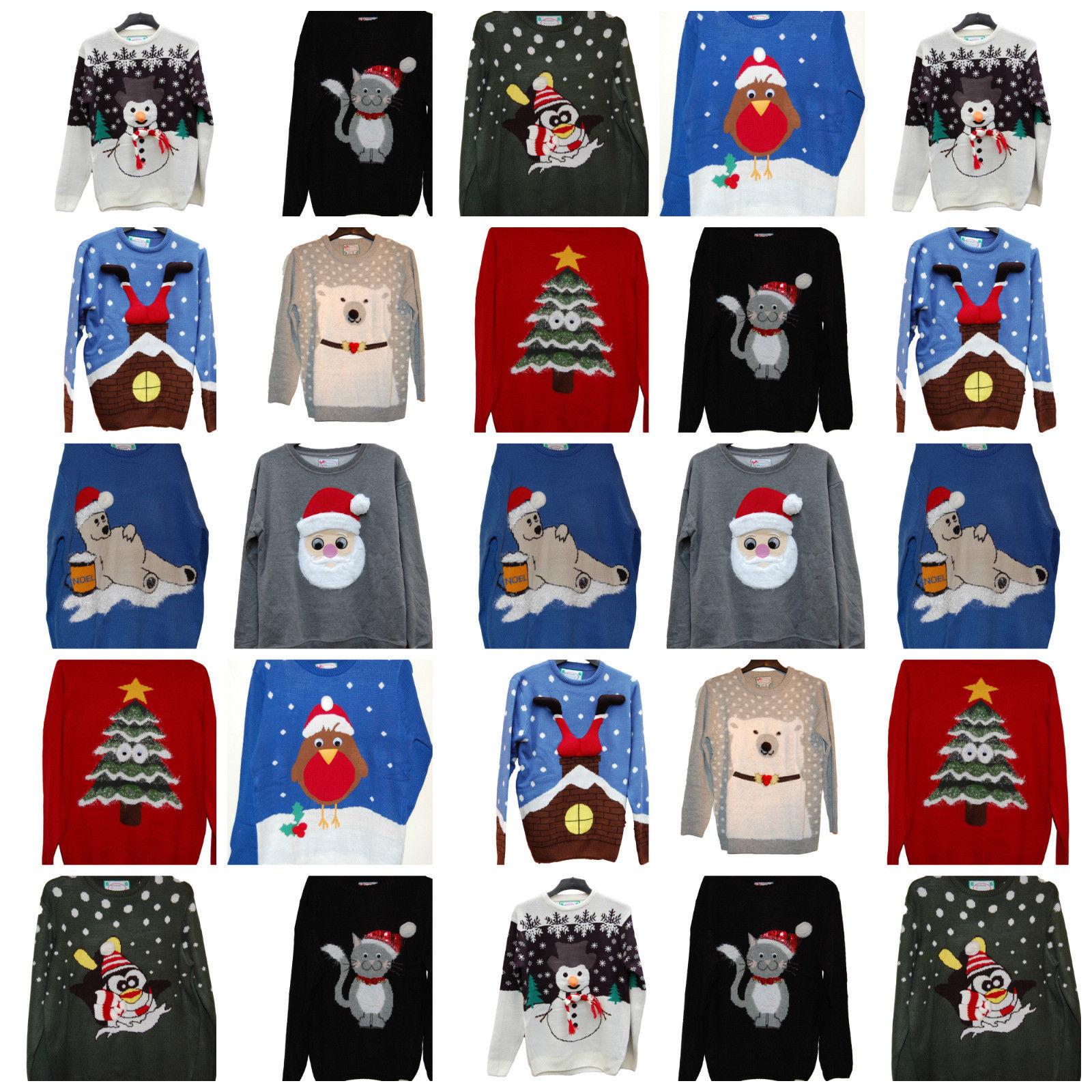 christmas pudding jumper grey