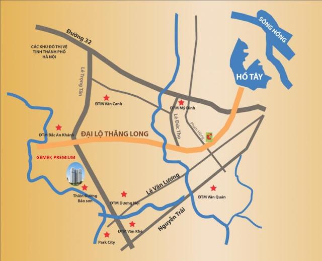Vị trí dự án trên bản đồ