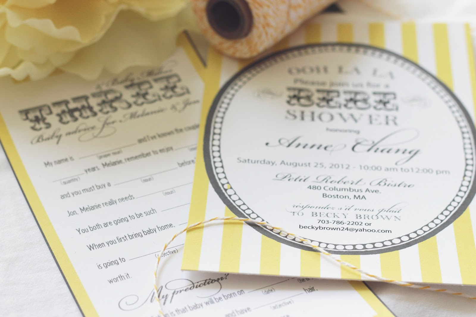 French Bridal Shower Invitations Images Invitation Templates Free