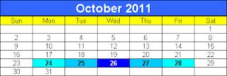 diwali 2011 calendar