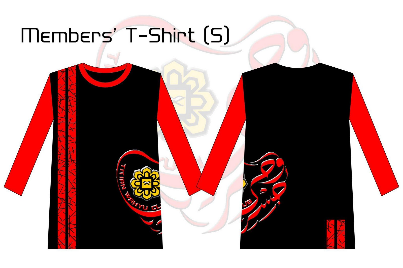 Design baju 2warna berserta logo club