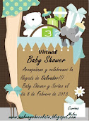 Baby shower virtual de Malva y chocolate