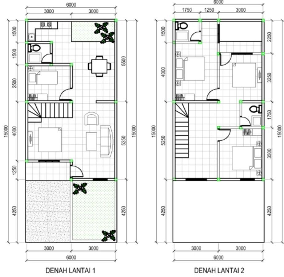 desain denah rumah minimalis 2 lantai tipe 100 yang bagus
