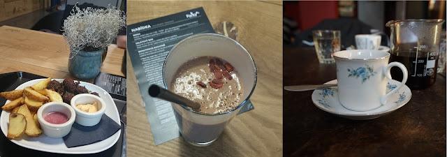 Meat Balls a smoothie ve Forkys, filtrovaná káva u Bílého králíka