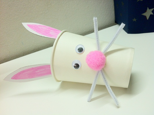 Jezebelleart Paper Cup Bunny