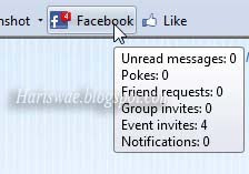 cek pemberitahuan facebook