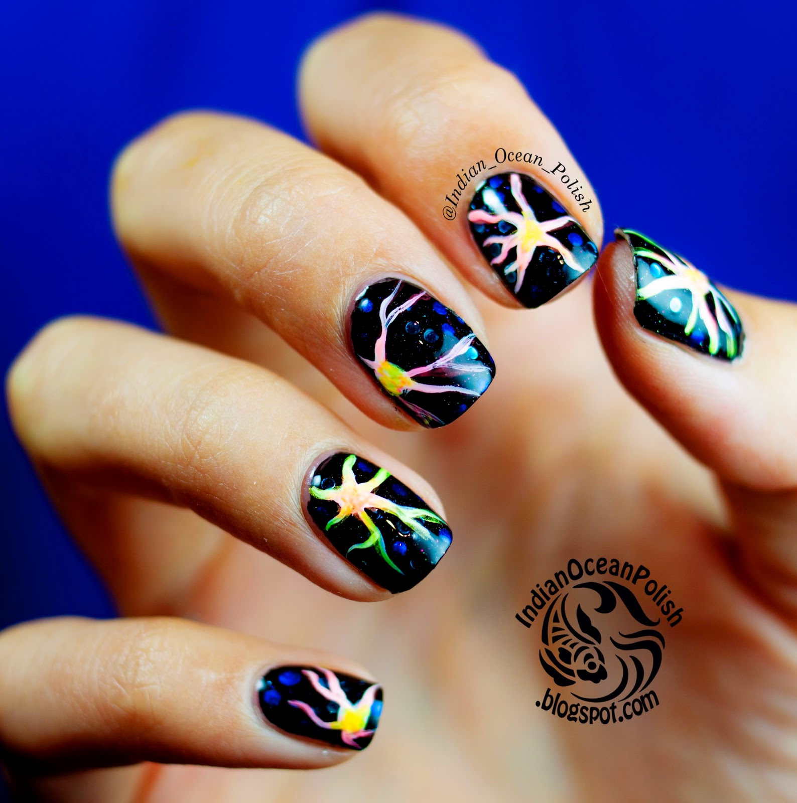 Indian Ocean Polish: Langerhans Cells Inspired Nail Art: Nail Art ...