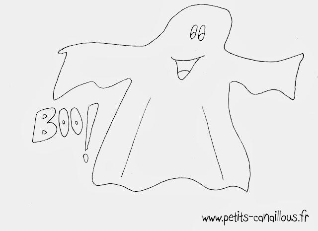 coloriage fantôme halloween à imprimer