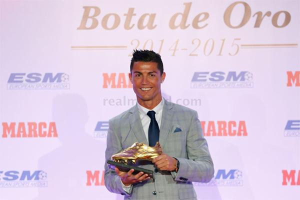 Cristiano Ronaldo Bota de Oro 2014-2015