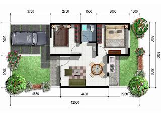 contoh denah rumah minimalis type 45 terbaru ~ hobi burung