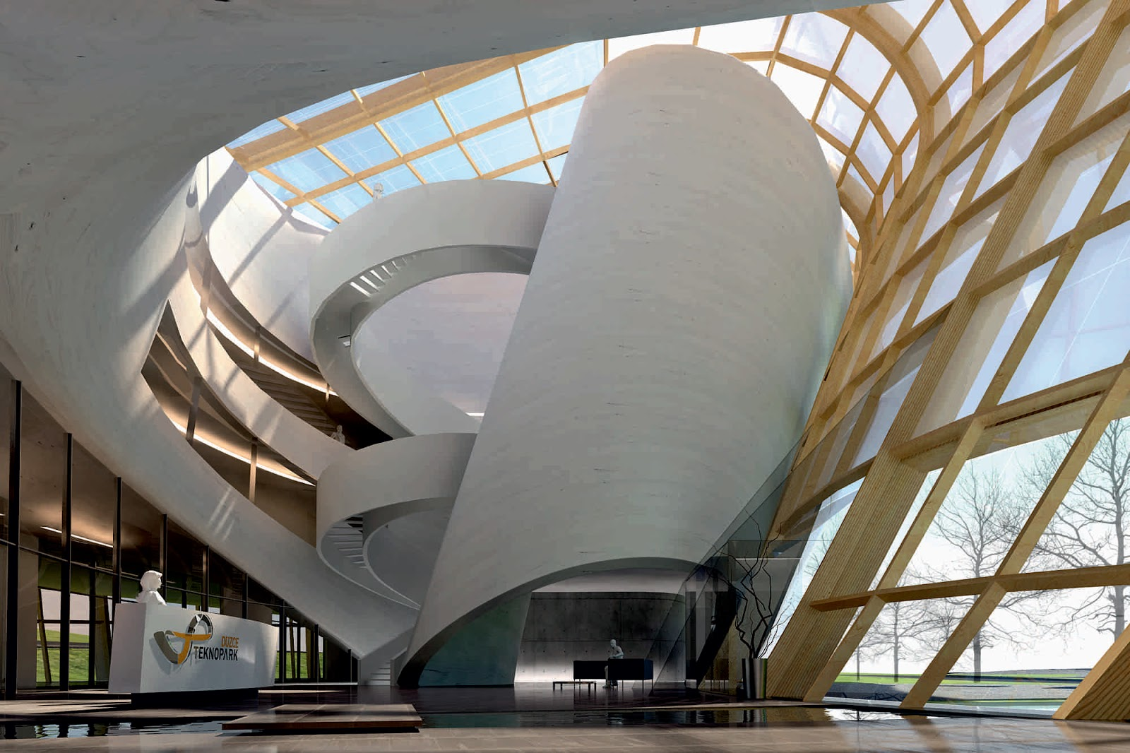 Foyer Architecture Yoga : DÜzce teknopark by ii architects a as architecture