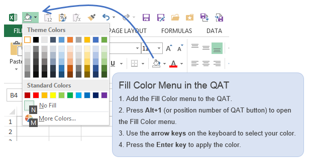 This Article Explains All The Possible Ways To Apply Font Or Fill Background Shading Colors Using Keyboard Shortcuts Including A Way Customize Your
