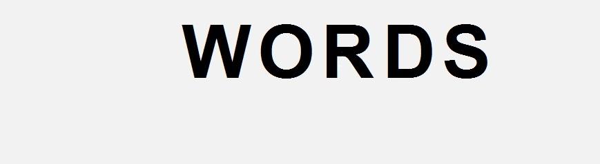 <center>words</center>