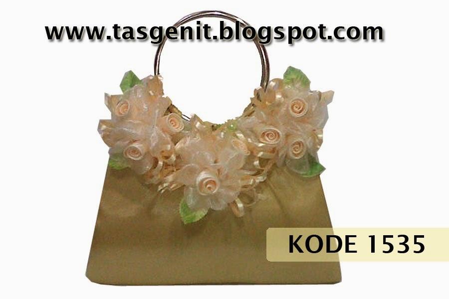 tas pesta cantik, tas bunga, clutch bag gold, dompet kondangan