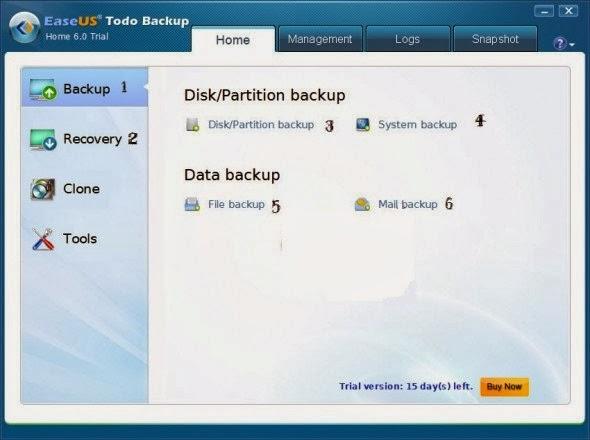شرح برنامج EaseUS Todo Backup لعمل بيك اب لويندوز 7,8,XP