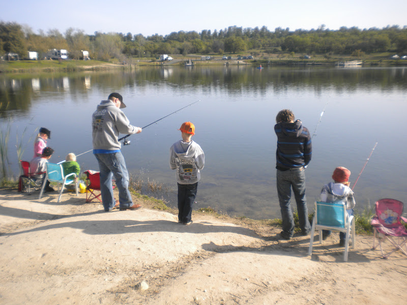 Our dream x3 easter camping lake camanche for Lake camanche fishing