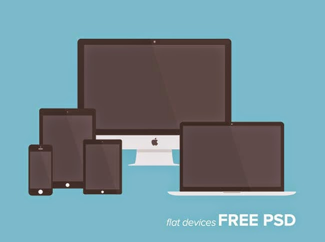 Freebie PSD: Free Flat Devices