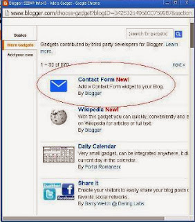 Cara Mudah Menambahkan Contact Form Di Blog
