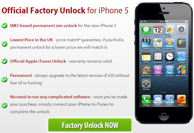 factory imei unlock iphone 4s