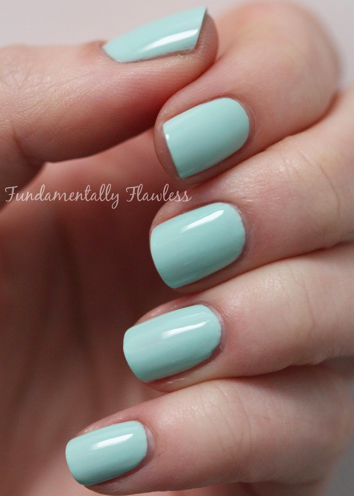 Barry M Road Rage speedy dry swatch - pastel bluegreen