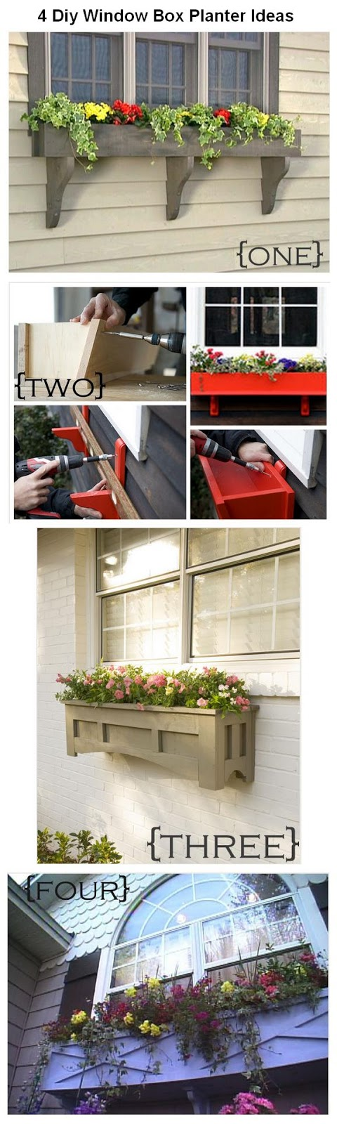 4 diy window box planter ideas. Black Bedroom Furniture Sets. Home Design Ideas