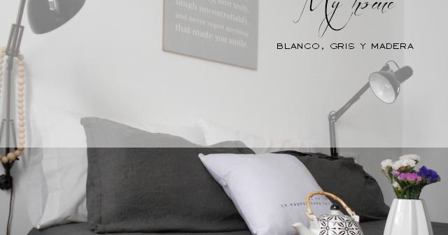 Cambios en mi habitaci n blanco gris y madera la for Funda nordica blanca y gris