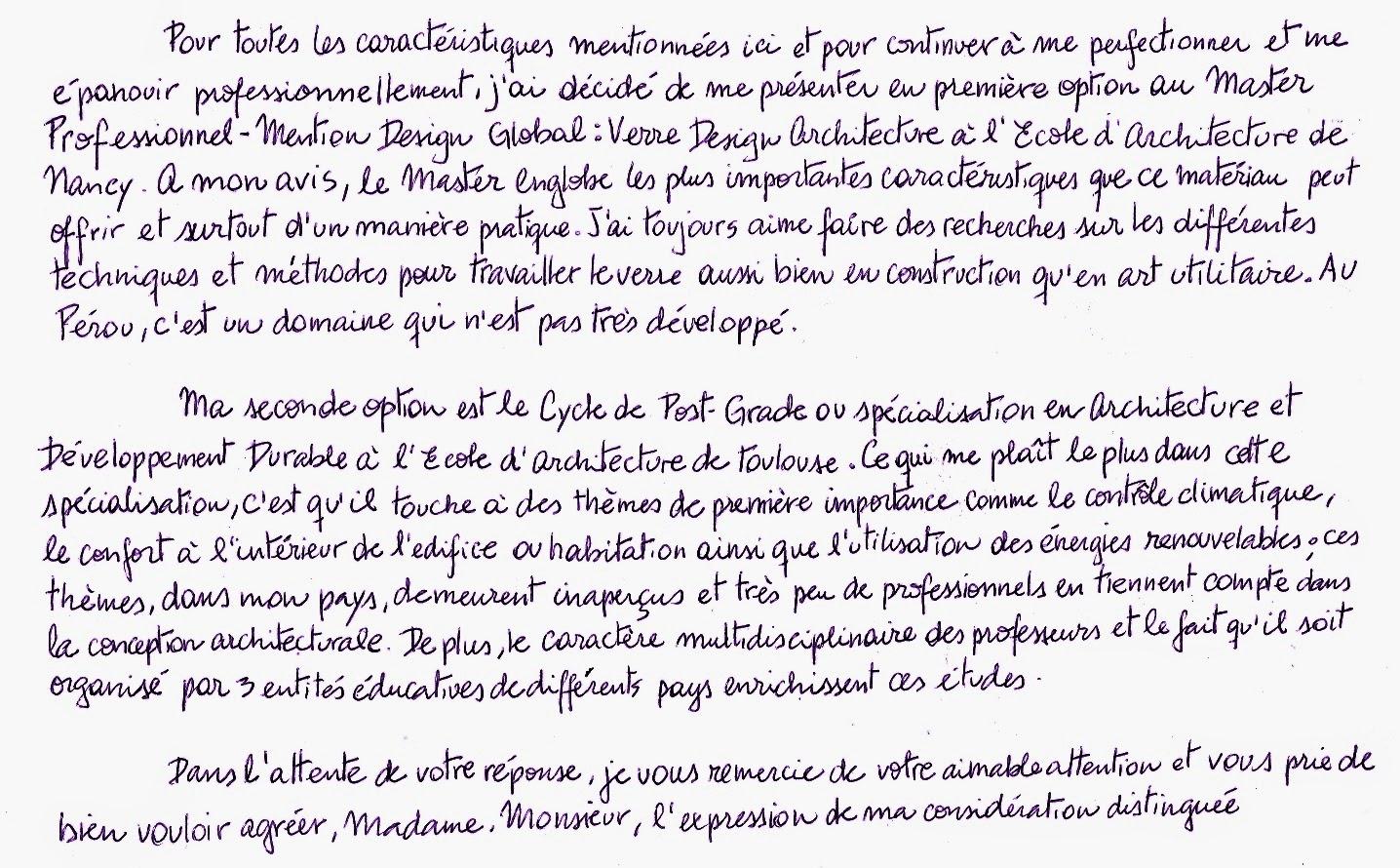 como redactar una carta de motivaci u00f3n en franc u00e9s