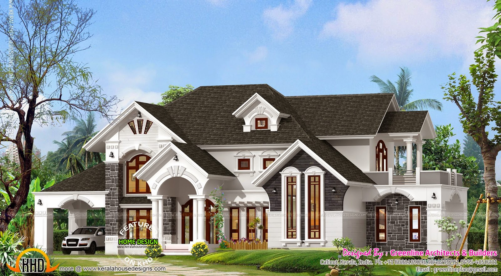 Outstanding Luxury Villa Exterior Kerala Home Design And