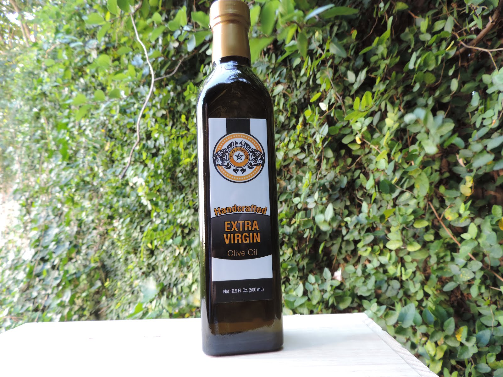 Texas Angel Oil extra virgin olive oil fresh from our orchard to you!