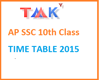 AP, TS SSC 10th class Time Table - Syllabus 2015