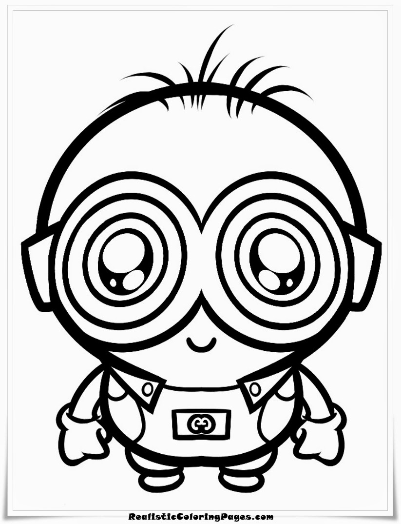 Despicable Me Coloring Pages For Kids Realistic Coloring