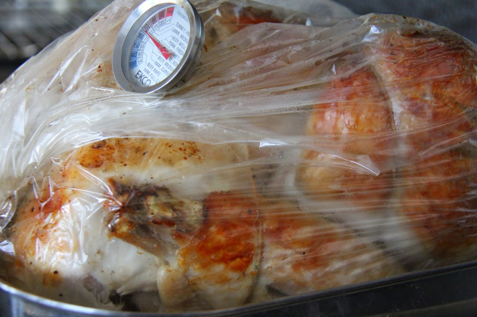 Turkey breast in a roasting bag