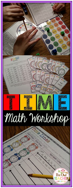 Telling Time math workshop lesson plans unit for guided math