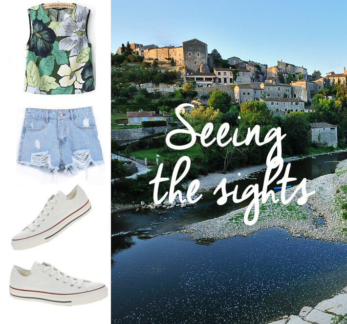 crop top denim shorts converse ardeche