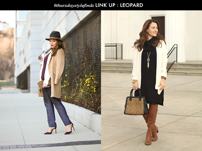 thursday style finds link up, daily sytle finds, leopard clutch, clare v leopard foldover clutch, leopard