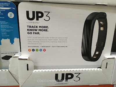 Stay informed with your calories burned and steps taken with the Jawbone UP3 Band + Up Move Fitness Tracker