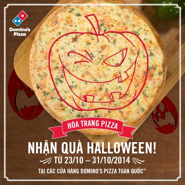 Nhận quà Halloween cùng Domino's Pizza