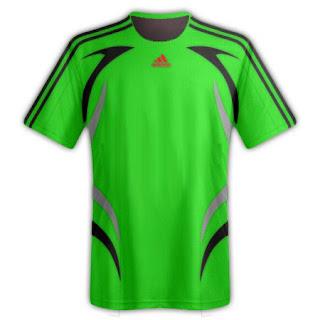 Desain kaos sepakbola warna hijau tua - exnim.com