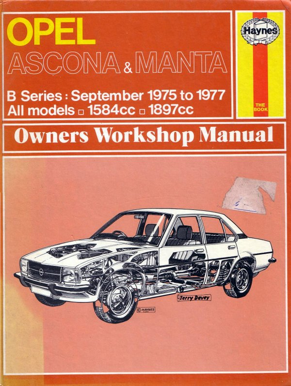 sold haynes manual for early opel ascona manta b 15 classic rh markkinnon com Ascona Switzerland Yoga Model Ascona