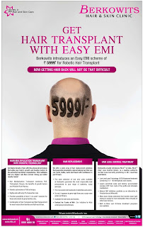 Get hair transplant with easy EMI offer | Now getting hair back will not be that difficult @ Delhi