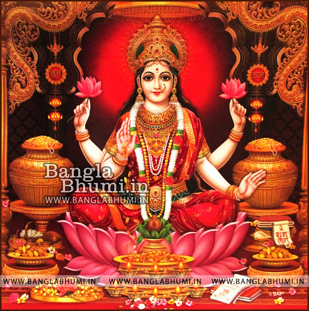 Maa Laxmi Goddess of Money Indian God HD Poster Wallpaper Free Download