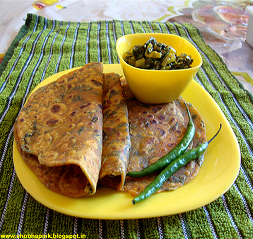 Methi Jowari Roti