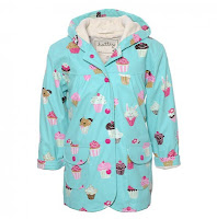 Cupcakes Raincoat in Turquoise Design Fashion Children Trend 2013