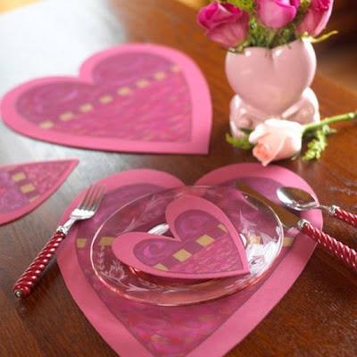 mesa decorada san valentín