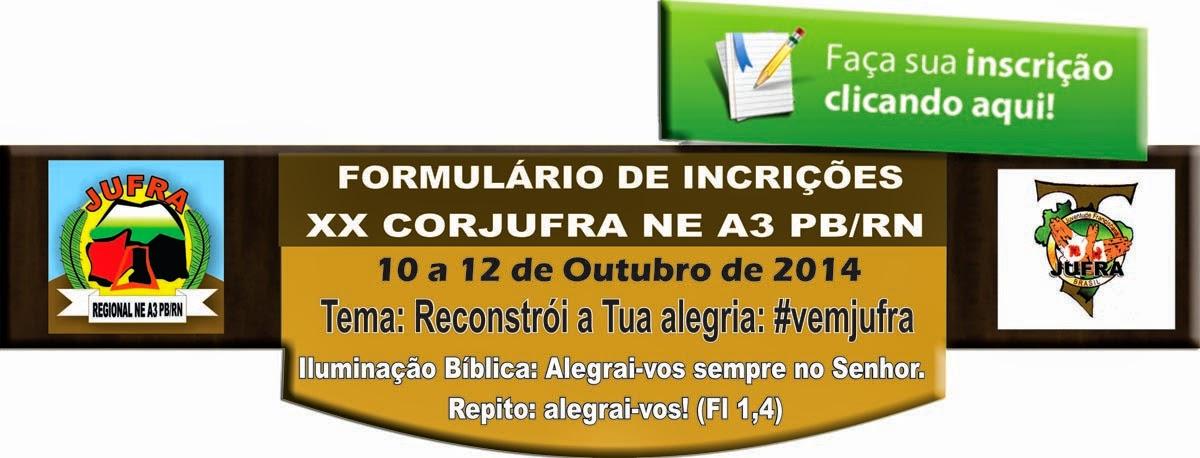 XX CONGRESSO CORJUFRA INCRIÇÃO