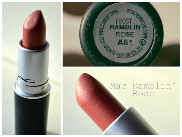 Ramblin rose - MAC - Frost Lipstick - review - swatch