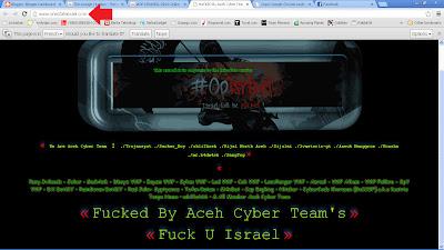 Situs Israel yang Berhasil di-Hack Peretas Aceh