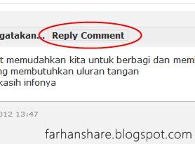 Cara Membuat Tombol Reply Komentar Blog